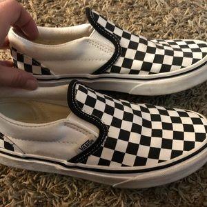 Vans black and white checker